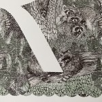 R-is-for-Raccoon-3-colour-screen-print-image-size-35x35cm-paper-sixze-37x38cm-eidtion-of-100-unframed-retail-price-£70 copy 3