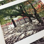 Sensoji Trees close up
