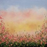 Sophie Berger – Blooming Foxgloves – 80 x 80 cm – oil on canvas