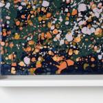 Sophie Berger – together we go – 100 x 100 cm – oil on canvas – corner detail