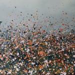 Sophie Berger – together we go – 100 x 100 cm – oil on canvas – face detail