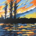 Sunset Ripples study 1