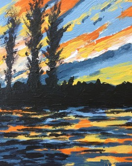 Sunset Ripples study 1