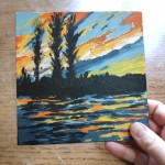 Sunset Ripples study 1 scale