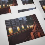Temple Lanterns close up