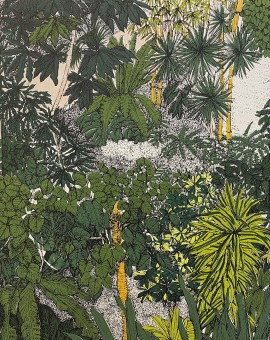 Tropical Overlook, Barbican Conservatory, 10 colour screen print, image size 23x23cm, paper size 25x27cm, edition of 75, unframed retail price £125