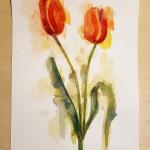 Tulips, Gavin Dobson, Watercolour4