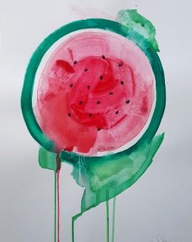 Water melon, Gavin Dobson, Watercolour