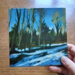 Woodland Snow study 1 scale