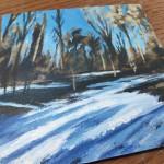 Woodland Snow study 2 close up