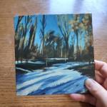 Woodland Snow study 2 scale