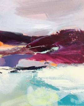 heather hills catherine warren wychwood art original abstract painting
