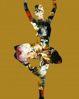 Agent X - En dedans pirouette avec des fleurs (gold)