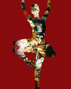 Agent X - En dedans pirouette avec des fleurs (red)