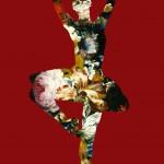 Agent X – En dedans pirouette avec des fleurs (red)