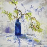Angela Webb Blue Bottle and Spring Green Contemporary Art 4