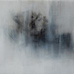 Annamarie Dzendrowskyj. Fleeting Moments II. Original oil painting, Abstract art, Contemporary monochrome painting.
