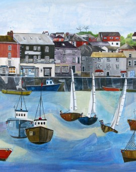 Anya Simmons-Padstow Harbour 1-Wychwood Art
