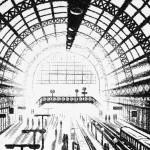 Arrival Alone – King's Cross St Pancras Station Etching 38 x 25 cm (15 x 10 inch) detail 3 Wychwood Art