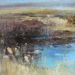 Detail,Marshland against the elements