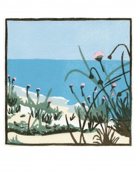 Fiona Carver Sea Pinks in the Dunes Wychwood Art