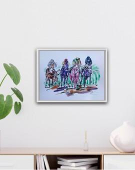 Garth Bayley Bright Horse Racing Artist