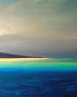 Island mixed media  on canvas 60x80cm  Charlie Baird