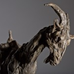 Jane Shaw On Top of the World Mountain Goat Bronze Resin Sculpture Wychwood Art 4