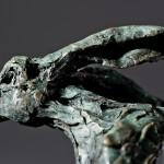 Jane Shaw The Great Escape Running Hare Bronze Sculpture Wychwood Art 1
