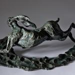 Jane Shaw The Great Escape Running Hare Bronze Sculpture Wychwood Art 2
