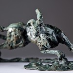 Jane Shaw The Great Escape Running Hare Bronze Sculpture Wychwood Art 4
