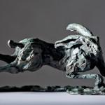Jane Shaw The Great Escape Running Hare Bronze Sculpture Wychwood Art 5