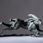 Jane Shaw The Great Escape Running Hare Bronze Sculpture Wychwood Art 6