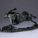 Jane Shaw The Great Escape Running Hare Bronze Sculpture Wychwood Art 7