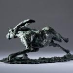 Jane Shaw The Great Escape Running Hare Bronze Sculpture Wychwood Art 8