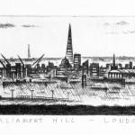 John Duffin Parliament Hill – London Limited Edition Etching 10.5 x 71 cm (4 x 28 inch) Wychwood Art