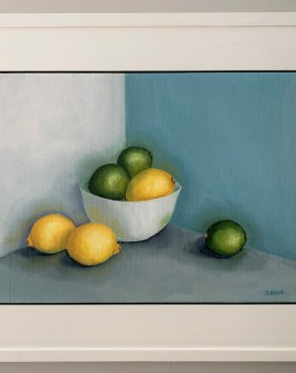 Jonquil Williamson Lemons and Limes Framed Wychwood Art