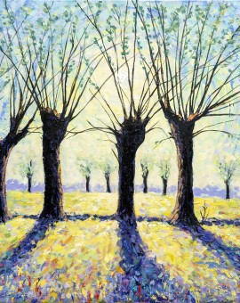 Lee Tiller - Willows at Dawn -  Wychwood Art
