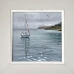 Marie Robinson Calm Mooring framed cropped Wychwood Art_