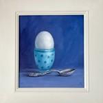 Marie Robinson Egg White framed cropped Wychwood Art_