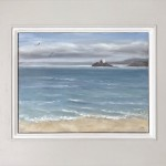 Marie Robinson Godrevy Light framed cropped Wychwood Art