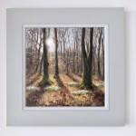 Marie Robinson Woodland Snowdrops framed Wychwood Art_