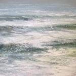 Michael Sander stormy sea limited edition art print beach dog walkers