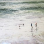 Michael Sander stormy sea limited edition art print dogs