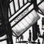 Night Time (Covent Garden Tube Station, London) Etching 38 x 25 cm (15 x 10 inch) detail 3 Wychwood Art