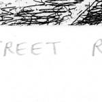 Regent Street Rain Etching 38 x 25 cm (15 x 10 inch) detail 4 Wychwood Art