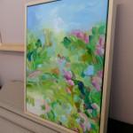 Smell The Greens Alanna Eakin Wychwood Art floral landscape medium framed