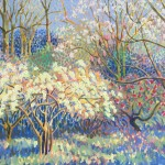 Spring Arboretum  Original Painting by Rosemary Farrer 45 x 56 WychwoodArt.jpeg