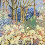 Spring Arboretum Original Painting by Rosemary Farrer detail1
