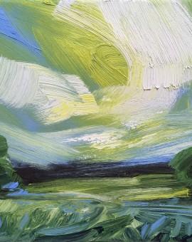 Suzanne Winn From the Garden in Spring Wychwood Art Original Landscape Painting